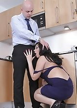 Naughty Holly screwed in the kitchen