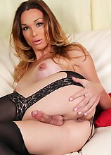 Jonelle Brooks is a gorgeous tgirl with an amazing body, perky boobs, a juicy round bubble butt and a rock hard cock! Enjoy this sexy transgirl as she