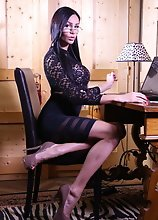 Lady boss Kimberlee pleasuring