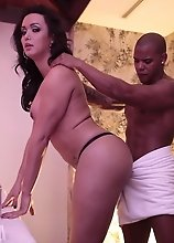 Horny Bianka takes a big black dick